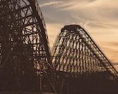 Gemini Sunset at Cedar Point Amusement Theme Park Roller Coaster