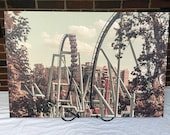 "Great Bear at Hersheypark Amusement Park Roller Coaster 30""x20"" Canvas Print"