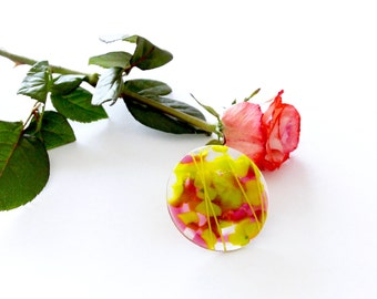 Fashion Jewelry,  Statement Jewelry, Marble Ring, Cocktail Ring, Glass Art  - Summer Celebrations, big ring, unique ring, handmade ring
