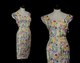 Liberty Print 50s inspired wiggle dress - Lola - Size Small - FREE SHIPPING WORLDWIDE