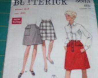 Butterick 5033 Vintage Misses Skirt  Size 29 Waist Hip 40   New Uncut