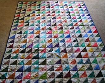 Scrappy Batik Quilt