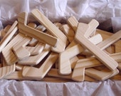 Lot of 100 Natural Wood Mini Ice Hockey Player Sticks, Hockey Tournament, Wedding Table Decor, DIY Pins, Party Favors,Jacobs Wooden Toys