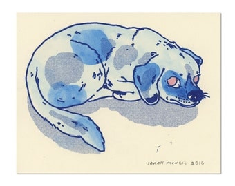 Hand painted Dog Print 07