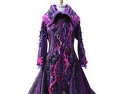 Custom patchwork boho Fantasy Sweater coat for Kimiko 628