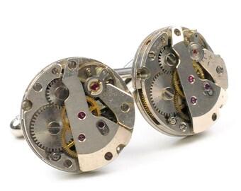 Steampunk Vintage Round Watch Cuff Links