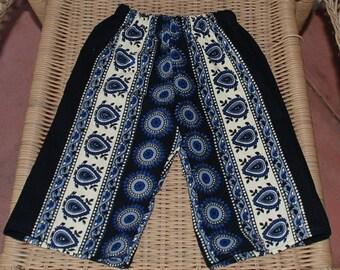 Hippie Kids pants -size 6-9 months -Blue Circle -Boys or Girls- Read measurements