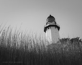 Architecture Photography 8x10 Print Lighthouse Photography Nautical Art Nautical Decor Black and White Photography Long Island Art Montauk