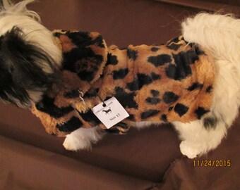 Faux Fur Dog Coat Size 12