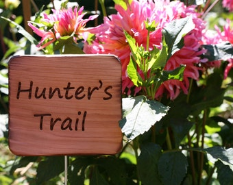 Reserved Listing- Custom Sign- Cedar Garden Sign- Wooden Natural Garden Sign- Natural Garden/Farm Decor