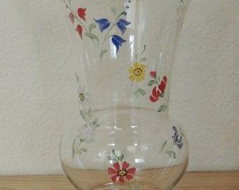 1940s Painted Flower Vase