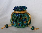 Jewelry Bag - Medium Size - Drawstring Jewelry Pouch - Jewelry Tote - FEATHERED FRIZZLE