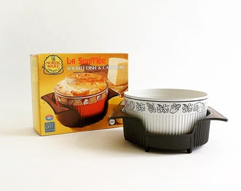 Vintage 1970s Nordic Ware / 70s Souffle Dish and Casserole with Table Server in Box Like-New / Non-Stick, Oven-to-Table