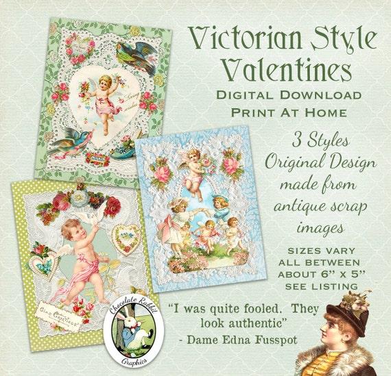 Victorian Style Valentine Cards