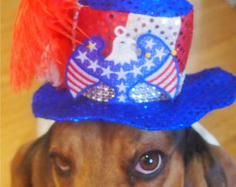 Dog's Patriotic floppy brim hat
