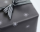Gift Wrap, Gift Wrap Sheets, Starlight, Celebrations, Star Gift Wrap, Black and White Wrap, Wrapping Paper, Modern Gift Wrap, Minimal