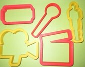 "You pick movie camera cookie cutter 4"", Oscar award cookie cutter 4.5"" Director Clapper 3.5"" Microphone cookie cutter, ticketAcademy awards"