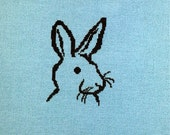 Rabbit Cross Stitch Bunny Head Completed Cross Stitch Easter Bunny