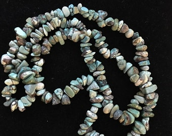 Vintage Chunky Turquoise Nugget Necklace