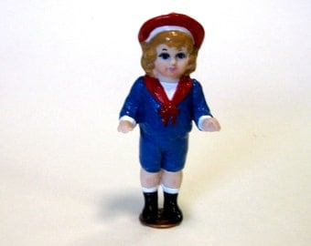 Handcrafted 3 inch porcelain penny doll little sailor