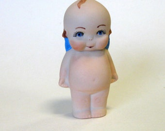 "Cupie 4"" handcrafted from a vintage mold in porcelain shy little fellow"