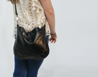 USHA - Leather Bag - Leather Hobo Bag - Leather Crossbody - Boho Chic - Boho Bag - Womens Purse - Womens Crossbody - More Colors