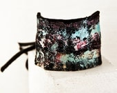 Etsy Love Gypsy Jewelry Bohemian Bracelet - 2016 Winter Fashion Hippie Accessories - Leather Cuffs Wristbands - Hand Painted