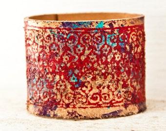 Gypsy Jewelry Cuffs Boho Bracelets Bohemian Wrist Cuffs - Women's Cuffs Made from Leather - Summer Gifts
