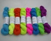 Mini Skeins - Knit Picks Stroll Brights 5 g set of 8 (complete set)