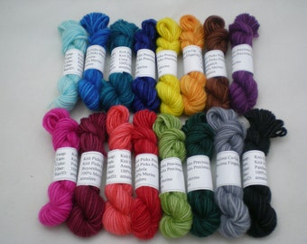 Mini Skeins - Knit Picks Preciosa Fingering 5 g set of 16 (complete set)