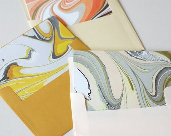 Marbled Notecards, set of six