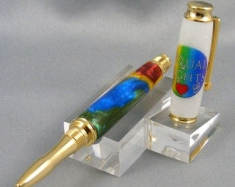 Equal Rights Rainbow Gold Rollerball