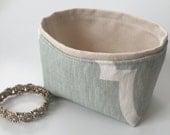 linen sea glass green mini bin // storage basket // summer beach house