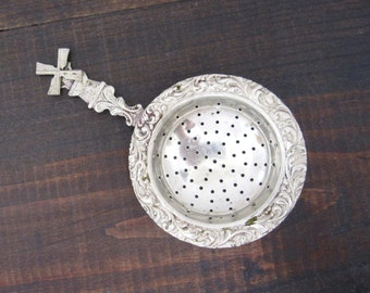 Vintage Metal Tea Strainer, Windmill with Moveable Arms