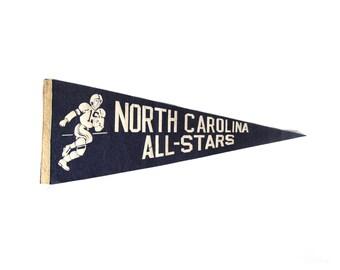 Vintage North Carolina All-Stars Football Pennant