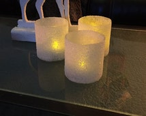 Ice Candles, Christmas Candles, Winter Candles,LED Candles, Frosty Candles, Wedding Candles