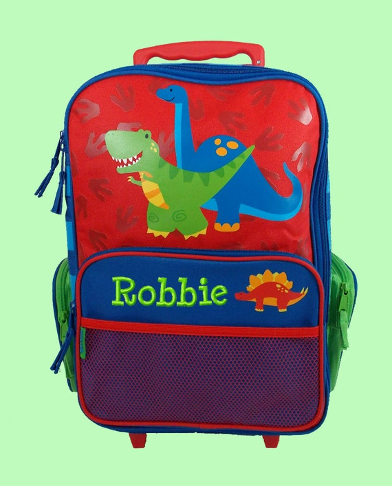 Personalized Stephen Joseph Rolling Luggage Newest DINO style Themed for Children