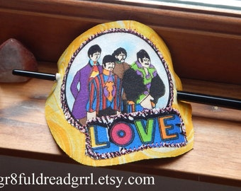 Beatles All You Need Is Love Hair Barrette Holder Yellow Submarine
