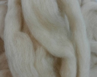 Suri Alpaca Wool Roving. Natural Color Alpaca, Soft Roving, Roving for Spinners,  Trixie ,4oz listing