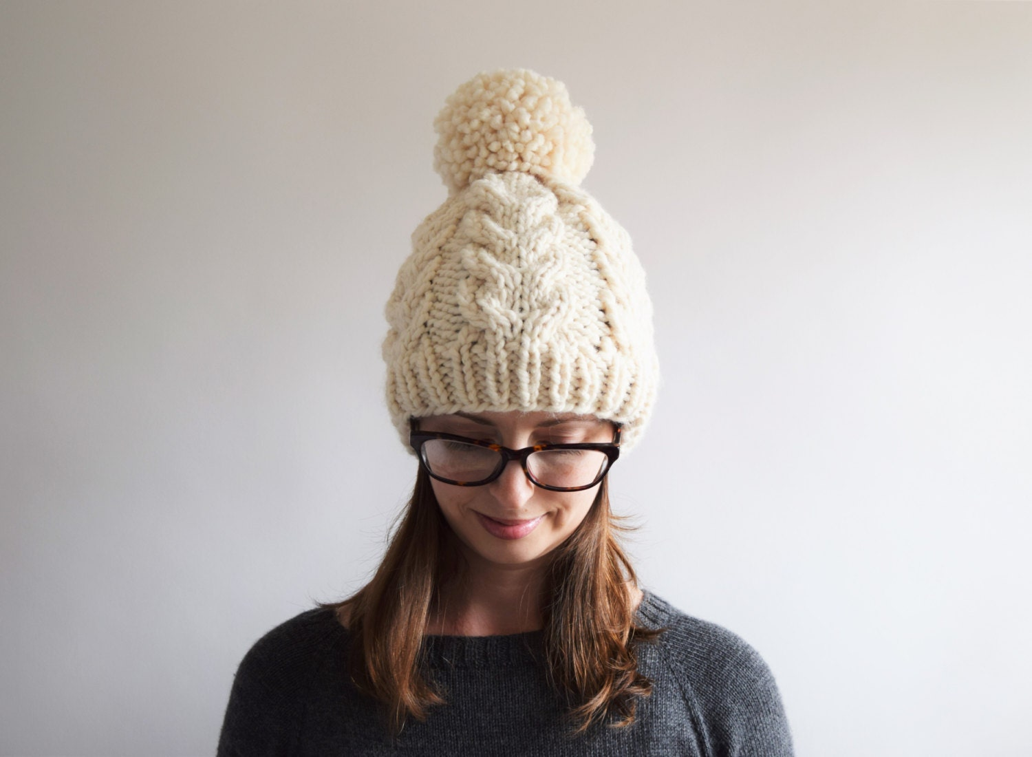 Knit Hat Pattern Graham : Cable Knit Hat Pattern