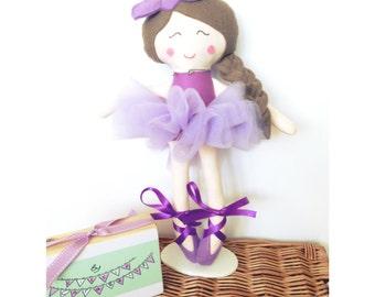 Rag doll Dolly Ballerina Custom Handmade Doll CE marked Perfect for playtime