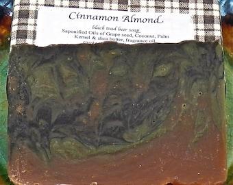Cinnamon Almond Cold Process  Beer Soap Black Toad dark ale