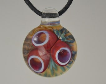 Glass Pendant Handblown Boro Lampwork Glass Jewelry