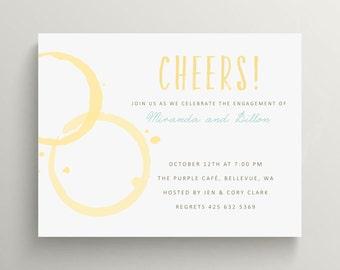 wine spot engagement party invitation // couples shower // champagne //bridal shower invitation // wine tasting // wedding shower // invite