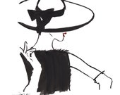 Strike a Pose, print from original watercolor fashion illustration by Jessica Durrant