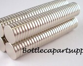 "100 pcs 3/8""x 1/16"" Medium Size NEODYMIUM Disc Rare Earth Magnets For Bottle Caps and Crafts"