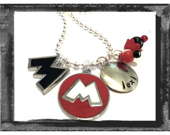 Personalized Charm Necklace - Minnie Mickey Necklace Custom charm necklace from LillyEllen  #M71