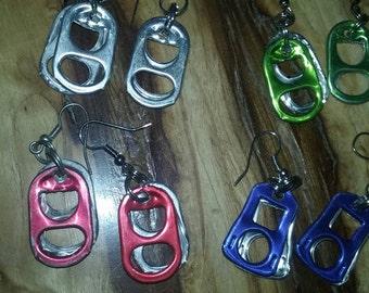 Multi-Colored Aluminum Soda Tab Earrings