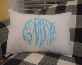 Personalized Monogrammed Monogram Pillow Cover 12x16 - Perfect Wedding or Baby Gift!
