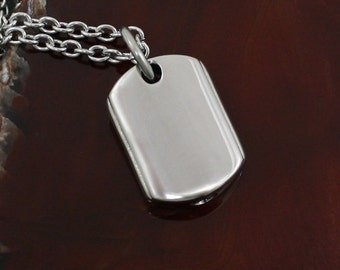 Dog Tag Urn Necklace | Cremation Jewelry | Memorial Cremation Urn Necklace